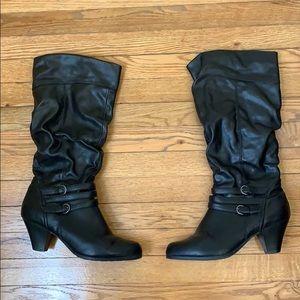 Merona Black knee high boots Size 11